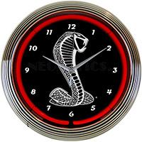 Ford Snake Neon Clock