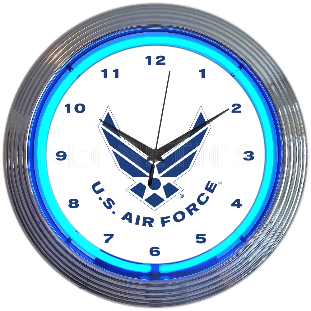 United States Air Force Usaf Neon Clock