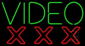 Video Triple X Neon Sign